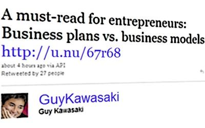 Бизнис План - Бизнис Модел Извадок од Твит