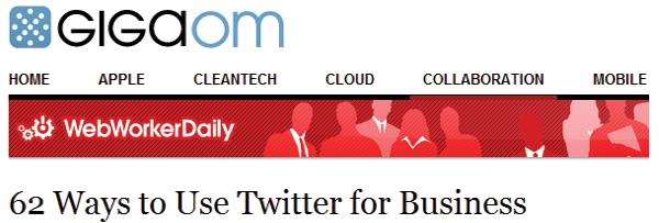62 начини за користење на Twitter за бизниси - Gigaom