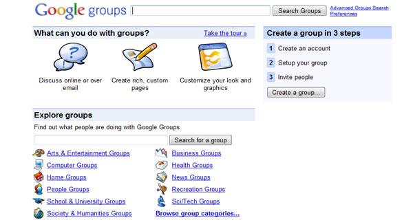 Google Groups - Алатка за соработка