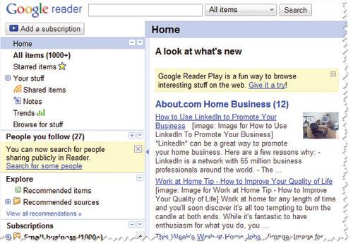 Google Reader како еден RSS читач