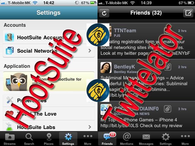 HootSuite & Twittelator Pro
