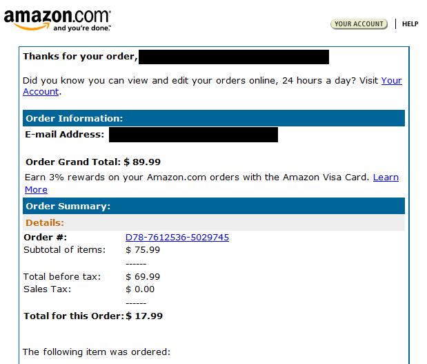 Лажна E-mail порака од Amazon