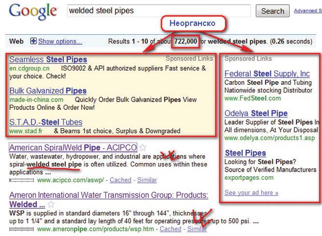 Пребарување на Google за Welded Steel Pipes